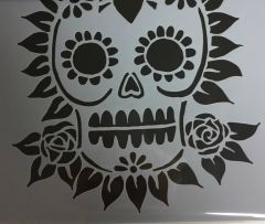 Powder or Airbrush Stencil- Sugar Skull 6x6