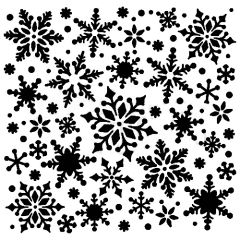 Powder or Airbrush Stencil - Snowflake