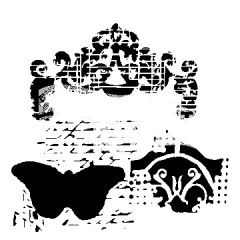 Powder or Airbrush Stencil - Regal Butterfly 12x12
