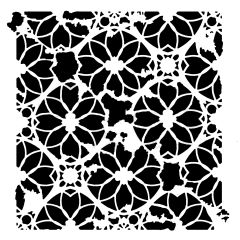 Powder or Airbrush Stencil- Distressed Lace 12x12 Only