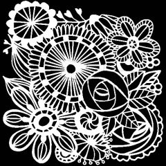 Powder or Airbrush Stencil - Blooming Garden