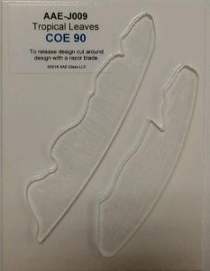 Tropical Leaf Set - 90 COE Fusible Clear Precut Glass Shapes