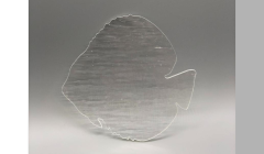 Extra Large Discus Fish - 90 COE Fusible Clear Precut Glass Shapes
