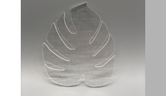 Extra Large Monstera Leaf - 90 COE Fusible Clear Precut Glass Shapes