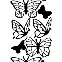 Butterfly Silhouettes Etching & Sandblasting Sticker Sheet