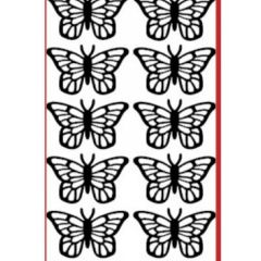 Medium Size Butterflies Etching & Sandblasting Sticker Sheet