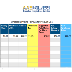 Cost Analysis Sheets for How to Price Your Work