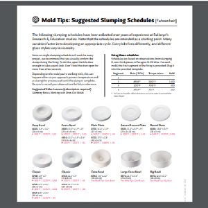 Mold Tips & Suggested Slumping Schedules Tutorial