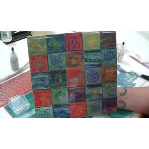 Fused Glass Quilt Plate Video Tutorial  w/ Tanya Veit
