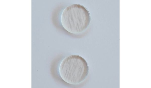 Pre Cut Clear Glass Circle Jewelry Base • 90 COE • Set of Two • 20 mm