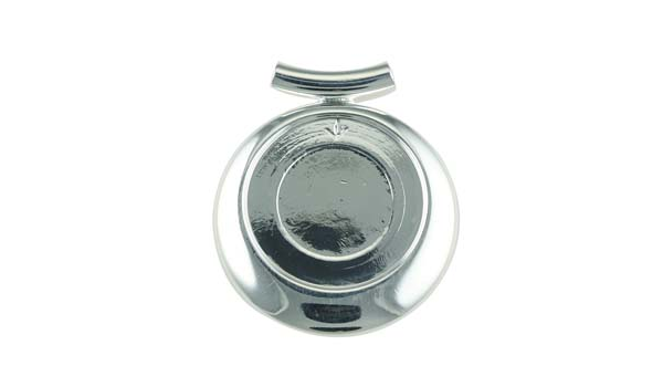 Round Silver Pendant Base, 25mm Blank Bezel Pendant Tray for Cabochon Setting, Fused Glass, Jewelry Making DIY Finding