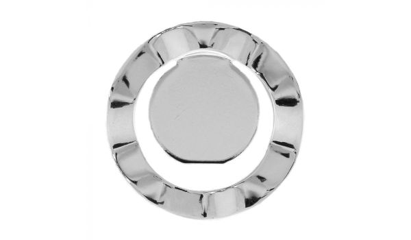 Silver Plated Wavy Round Blank Pendant Base, 25mm Blank Bezel Pendant Tray for Cabochon Setting, Fused Glass, Jewelry Making DIY Finding