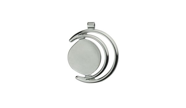 Silver Pendant Jewelry Setting Crescent Moon Design, 20mm Blank Bezel Pendant Tray for Cabochon Setting, Fused Glass, Jewelry Making DIY Finding