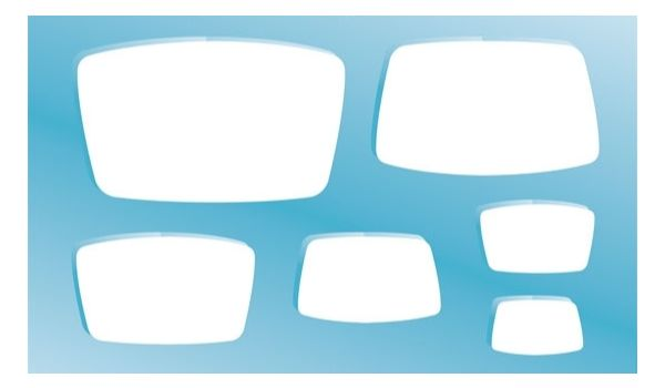 Tapered Rectangle Shape Template