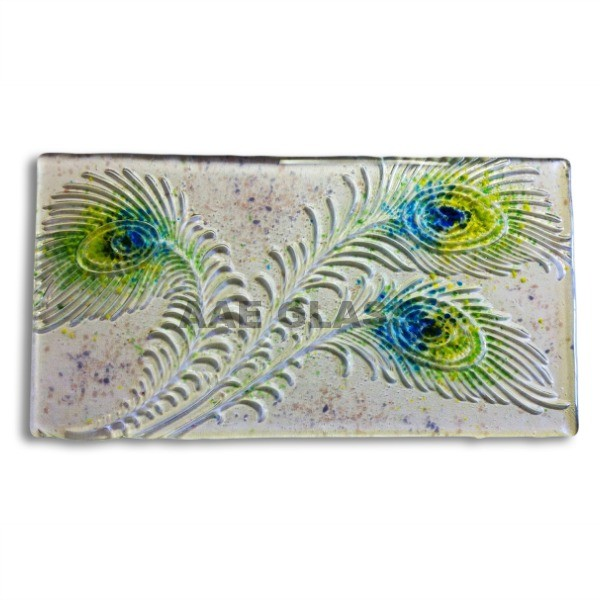 Peacock Feathers Texture Glass Fusing PDF Tutorial