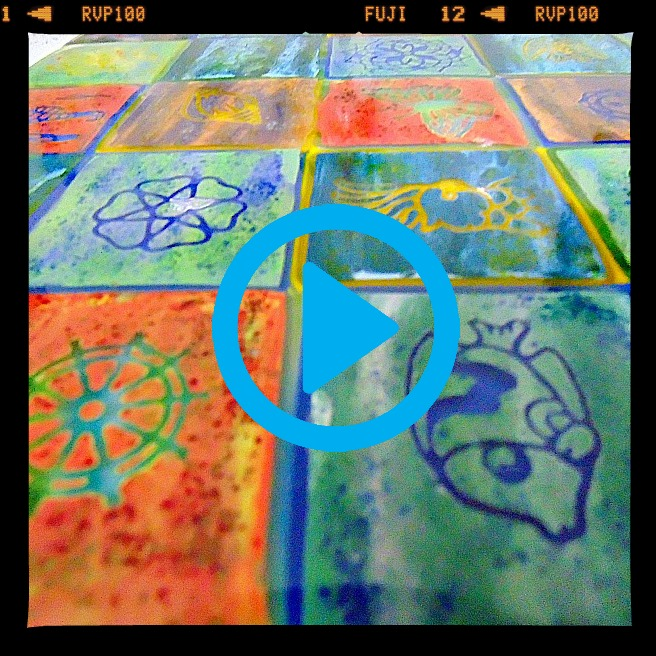 Fused Glass Quilt Plate Video Tutorial  w/Tanya Veit