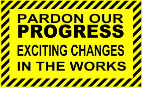 pardon our progress